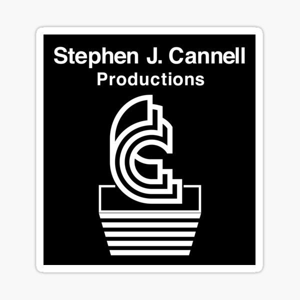 NDVH Stephen J. Cannell Productions Sticker