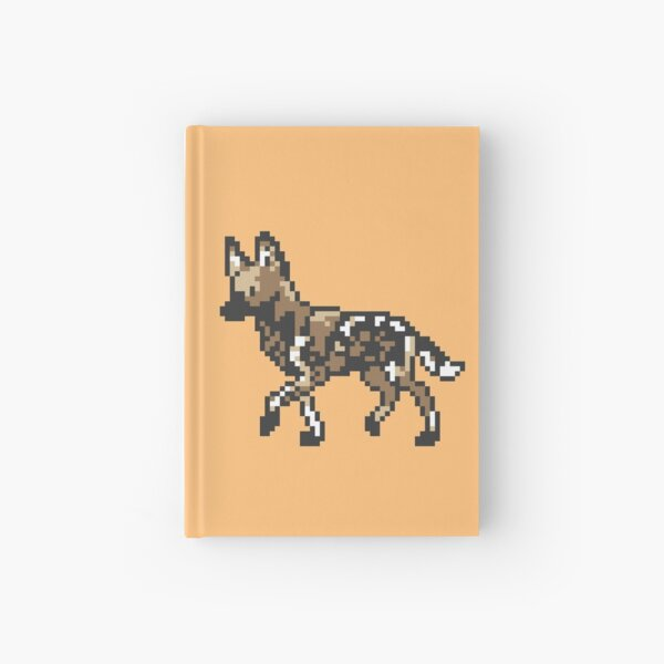 8bit African Wild Dog Hardcover Journal