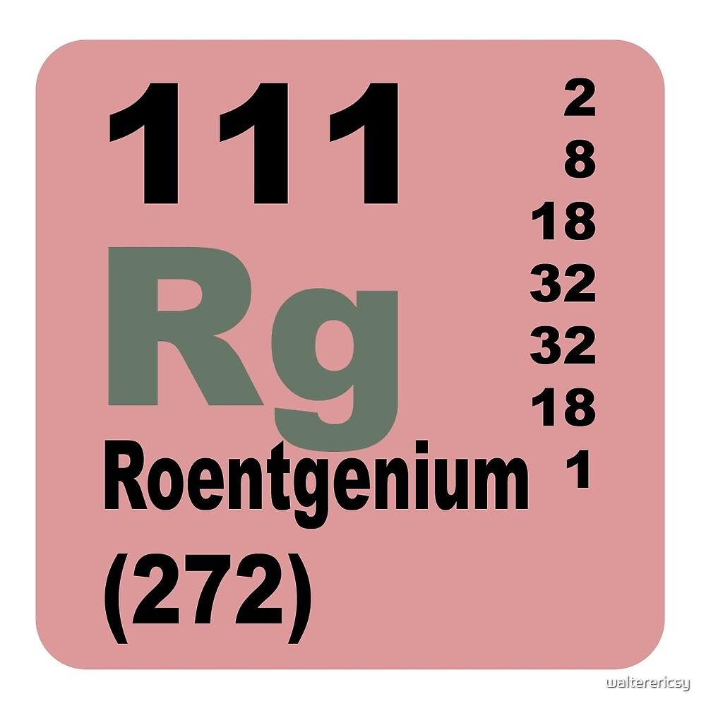 Roentgenium Periodic Table of Elements by walterericsy