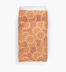 Grapefruit Slices Background 2 Duvet Cover