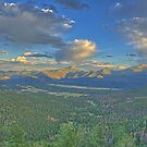 Sunset over the Rockies 2 by doctorphoto