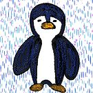 Batik Sad Penguin by elledeegee