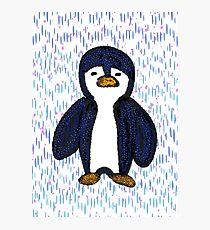 Batik Sad Penguin Photographic Print