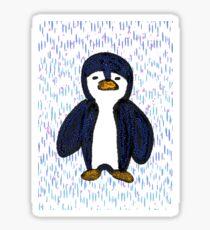 Batik Sad Penguin Glossy Sticker