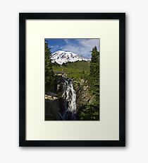 Myrtle Falls, Paradise, Mt. Rainier National Park Framed Print