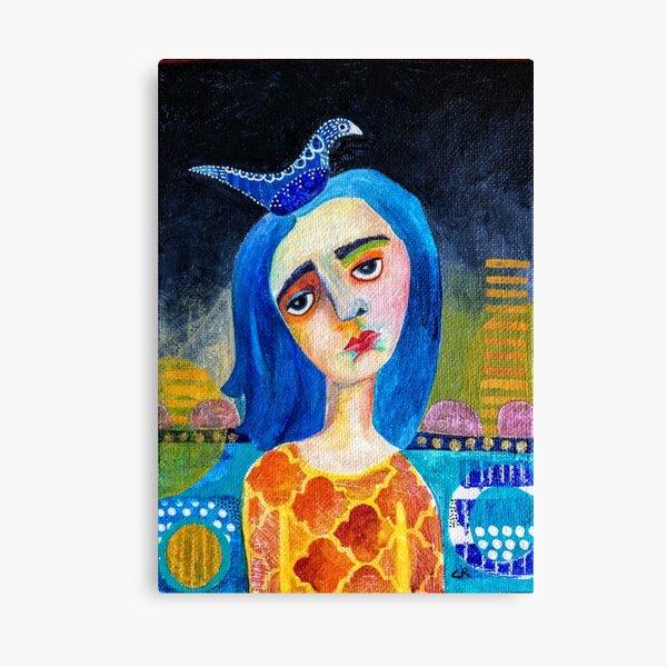 Blue Bird by Carole Robinson Canvas Print