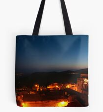 Safed old city at night Tote Bag