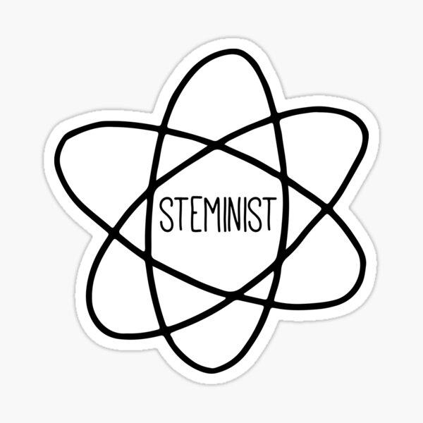 Steminist Feminist Science Quote Sticker
