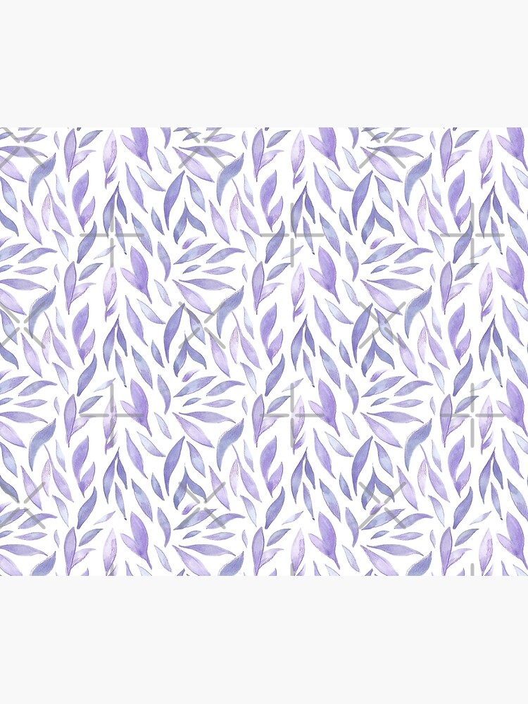 Watercolor Leaves - Lilac by annieparsons
