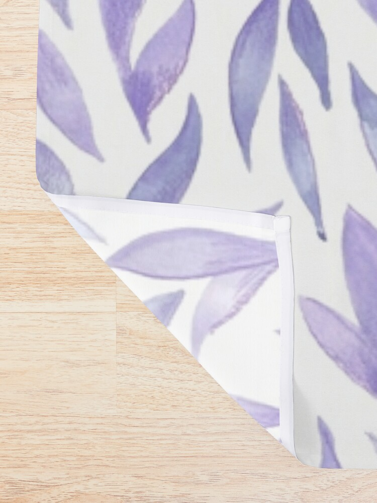 Alternate view of Watercolor Leaves - Lilac Shower Curtain