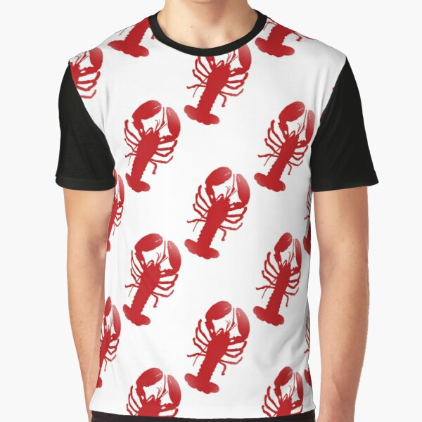 Red Lobster Repeating Pattern Graphic T-Shirt