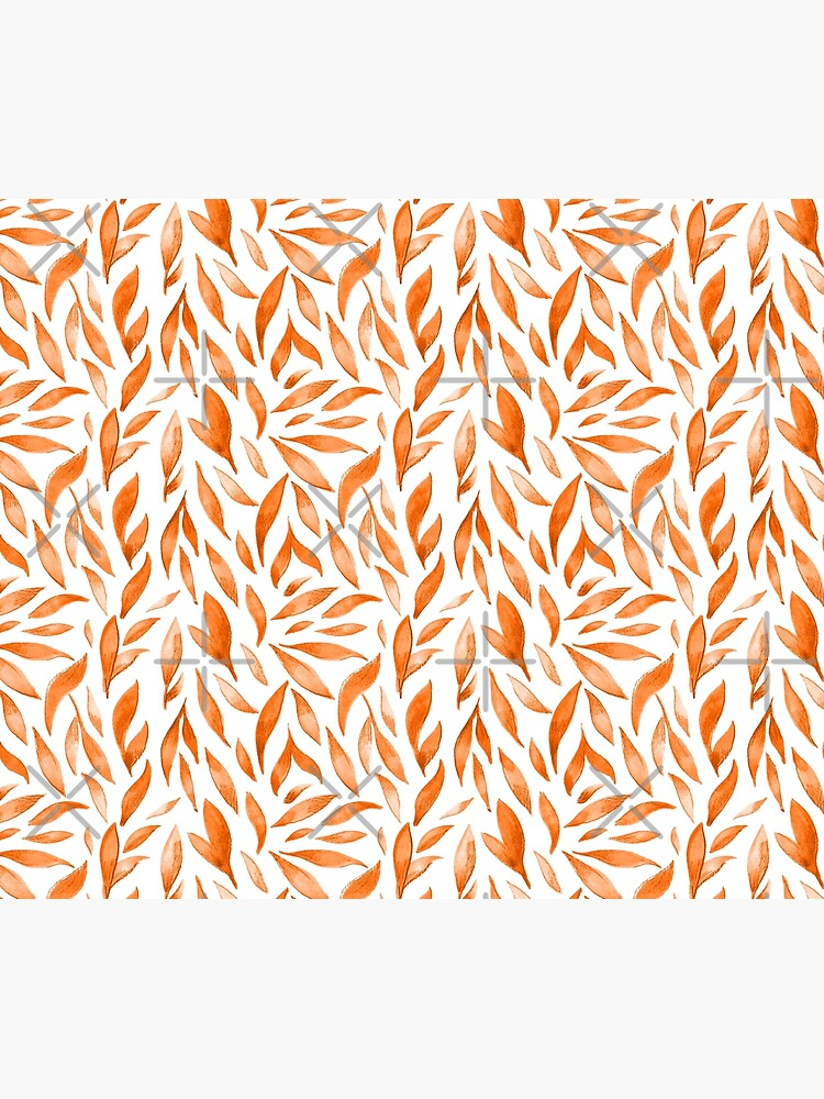Watercolor Leaves - Orange by annieparsons