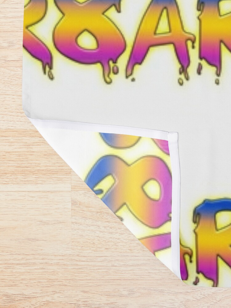 Alternate view of Create Art! - Blue, Yellow, Pink on White Shower Curtain