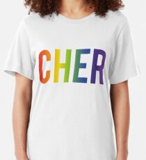 Cher Gay Icon Pride Rainbow Slim Fit T-Shirt