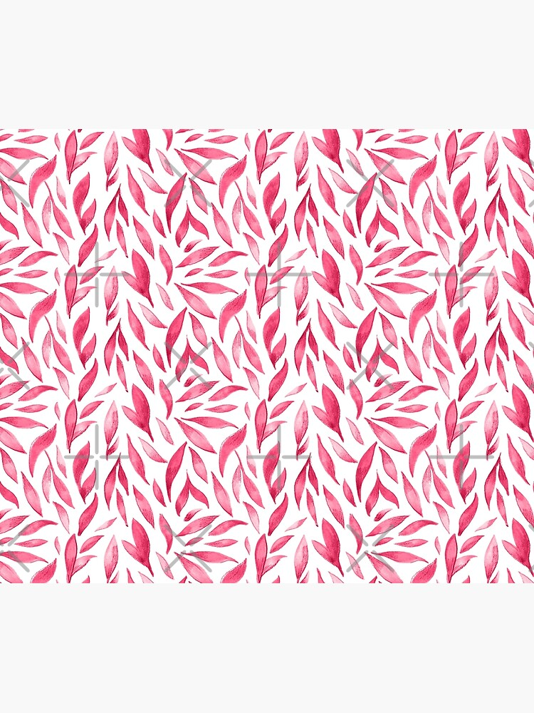 Watercolor Leaves - Pink by annieparsons