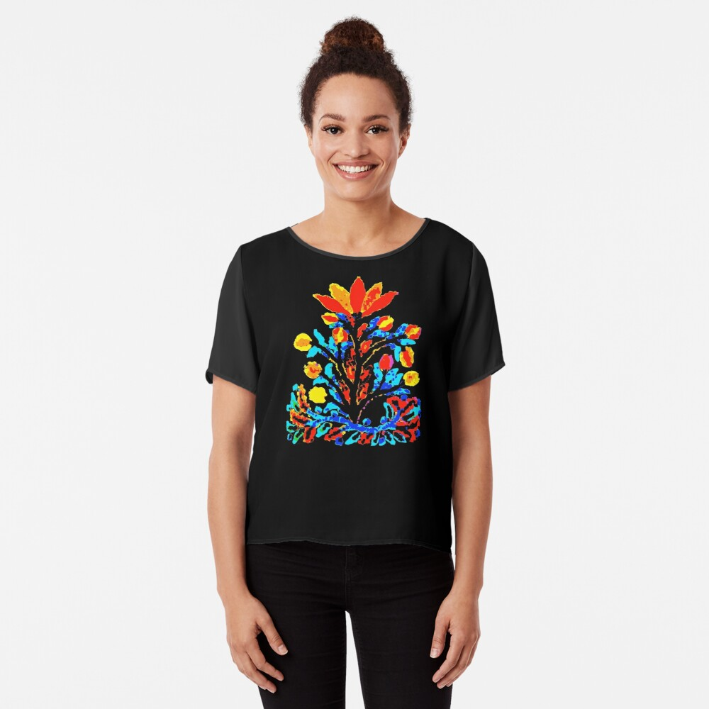 Fire and Water Flower Chiffon Top