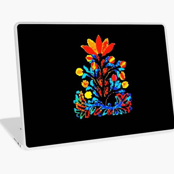 Fire and Water Flower Laptop Skin