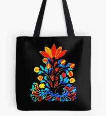 Fire and Water Flower Tote Bag