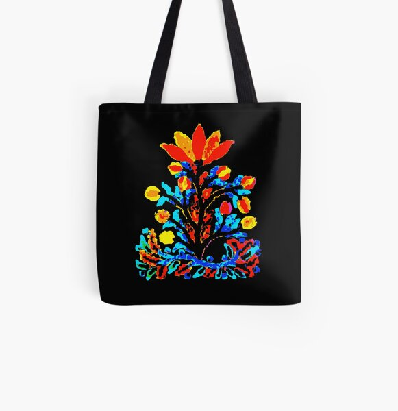 Fire and Water Flower All Over Print Tote Bag