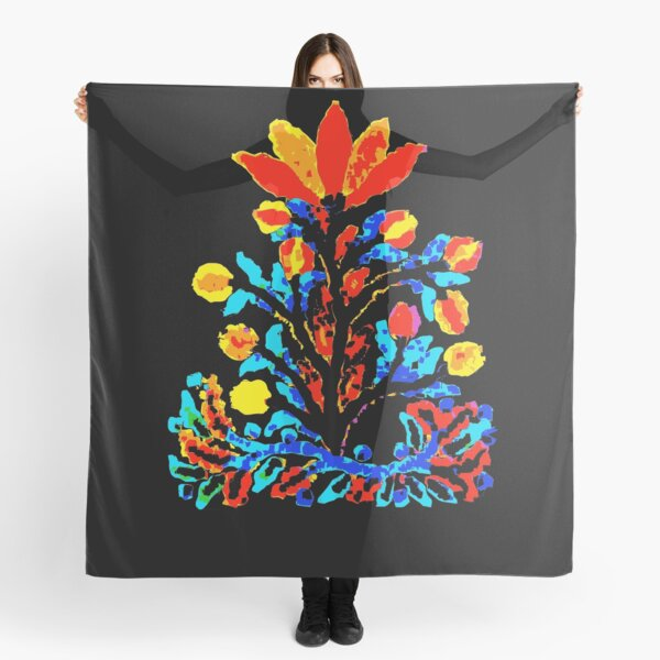 Fire and Water Flower Scarf