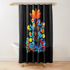 Fire and Water Flower Shower Curtain