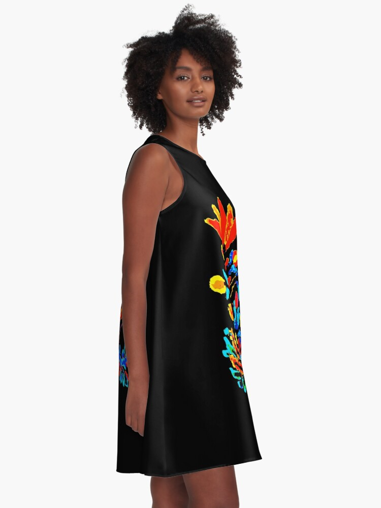 Alternate view of Fire and Water Flower A-Line Dress