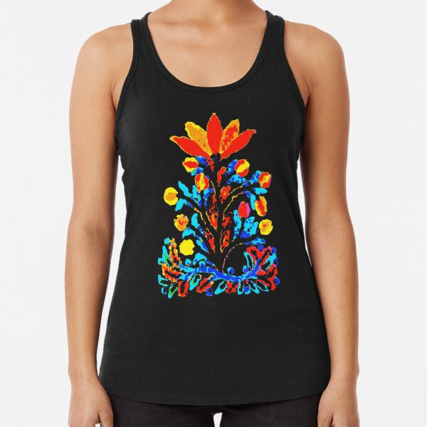 Fire and Water Flower Racerback Tank Top