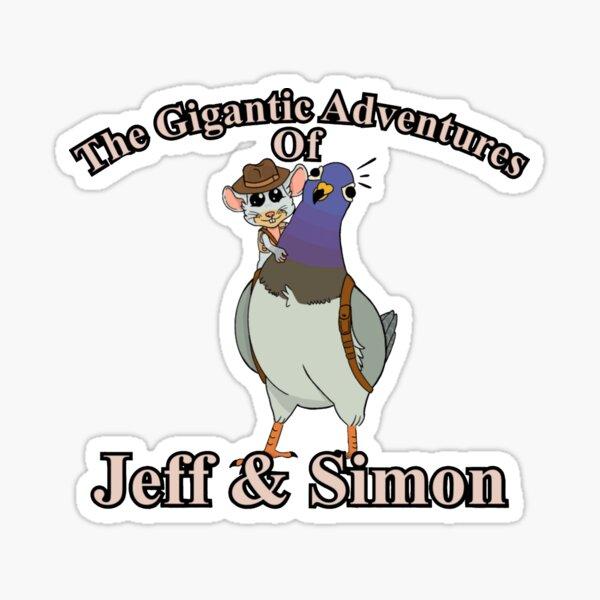 The Gigantic Adventures of Jeff and Simon Sticker