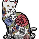 Cat in Flowers by epitomegirl