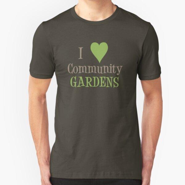 Community Garden Love Beige Slim Fit T-Shirt