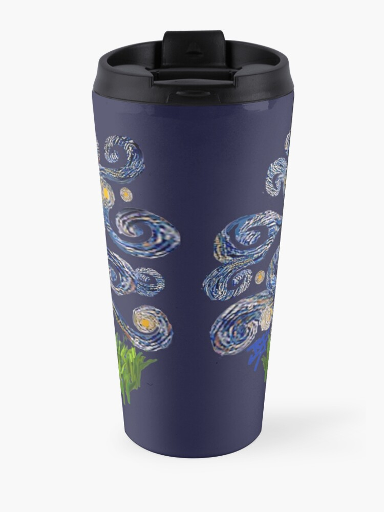 Alternate view of Starry Night Free Form - Soft Coated Wheaten Terrier Travel Mug