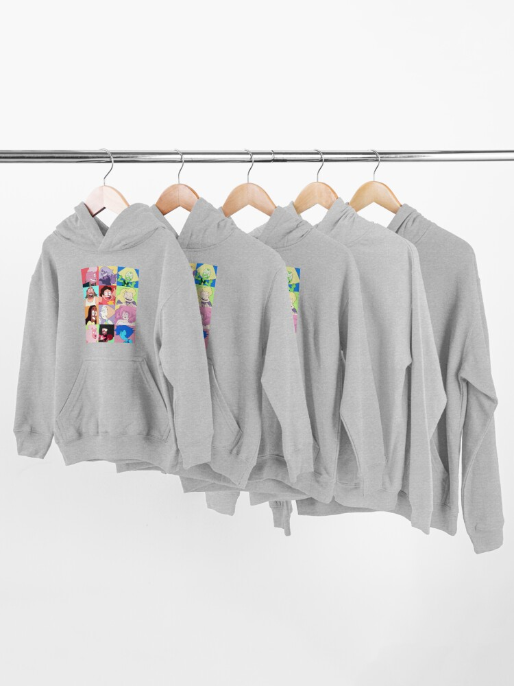 Alternate view of Steven Universe™ Character Set! Kids Pullover Hoodie