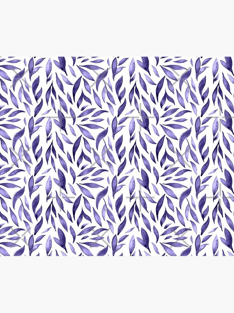 Watercolor Leaves - Purple by annieparsons
