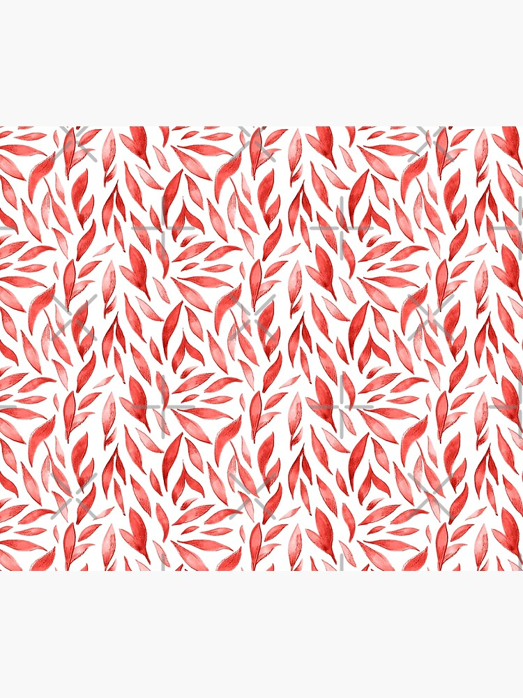 Watercolor Leaves - Red by annieparsons