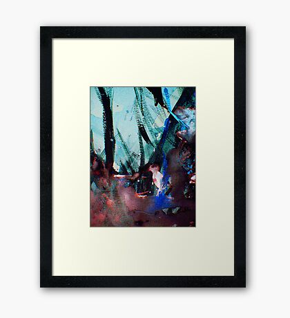 white bird thicket..... Framed Print