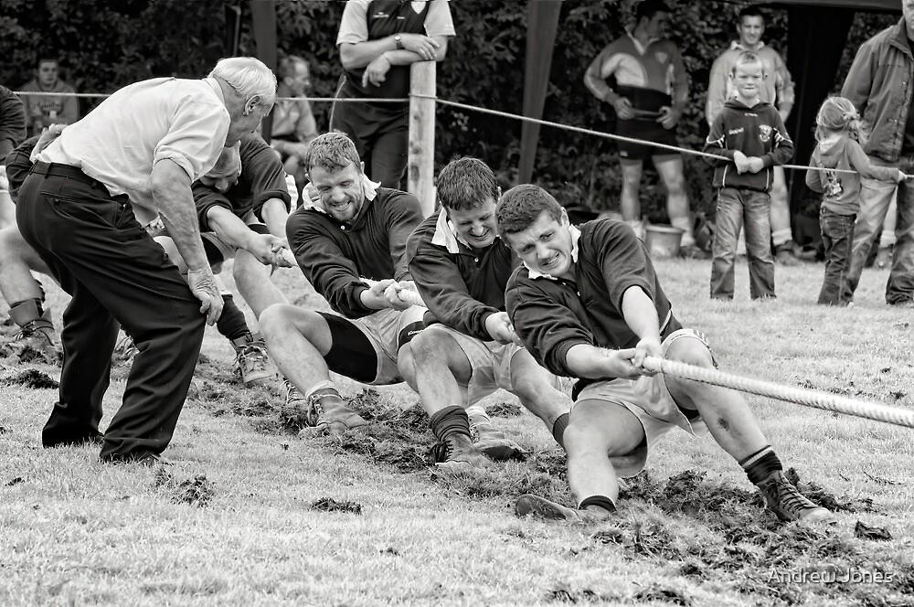 Encouragement, Irish national tug of war championship, New Ross County Wexford, Ireland by Andrew Jones