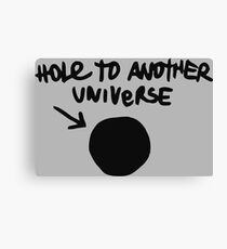 Chloe's Decal - Hole to Another Universe Canvas Print