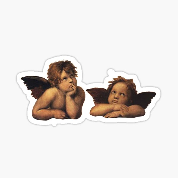 raphael's sistine chapel angels sticker Sticker