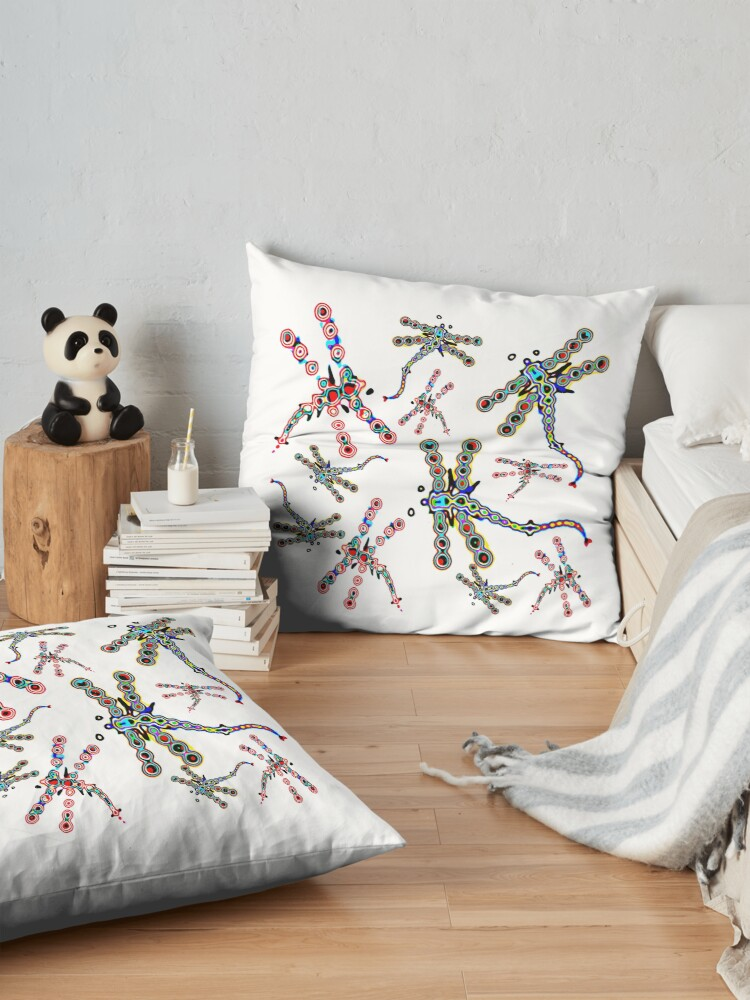 Alternate view of Electric Dragonfly Dreams Floor Pillow