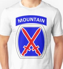 10th Mountain Division Logo Slim Fit T-Shirt