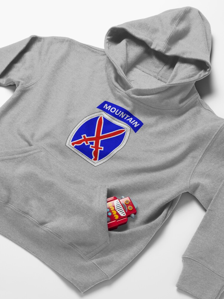 Alternate view of 10th Mountain Division Logo Kids Pullover Hoodie