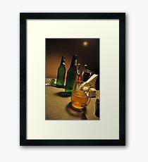 High in lowlight! Framed Print