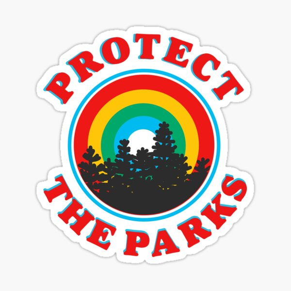protect the parks retro aesthetic environmentalist sticker Sticker