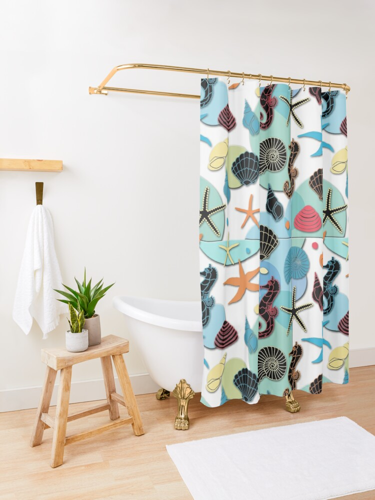 Alternate view of Under the Sea Shower Curtain