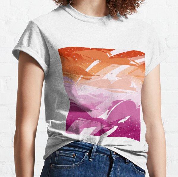 Lesbian Pride Clouds Classic T-Shirt