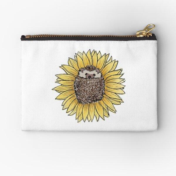 Spiky Sunflower Zipper Pouch