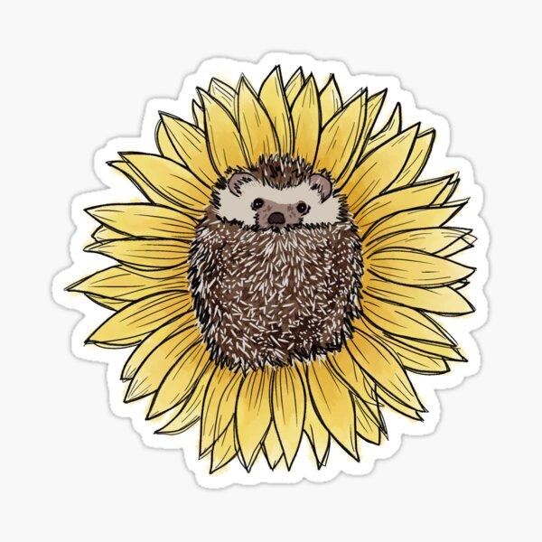Spiky Sunflower Sticker