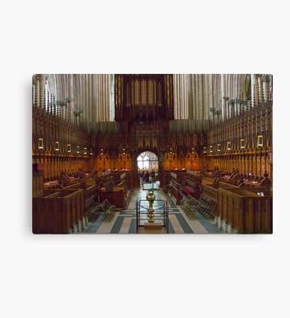 The Choir Stalls Canvas Print