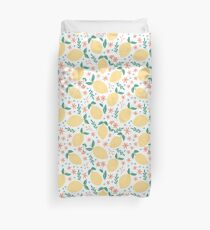 Summer Lemons Duvet Cover