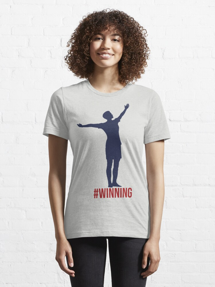 Alternate view of Megan Rapinoe - #Winnning Red, White, and Blue Essential T-Shirt